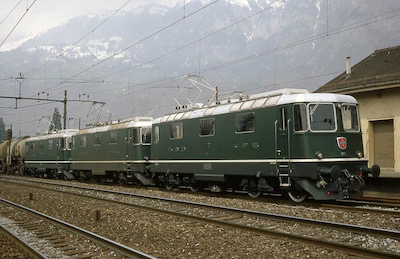 SBB 3 Re 4/4 II Walenstadt, Versuche, 1967 (Photo: Karl Meyer)
