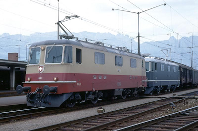 SBB 2 Re 4/4 II, Buchs SG, 1969 (Photo: Karl Meyer)