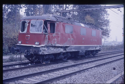 SBB Re 4/4 nach Unfall Rupperswil, 1987