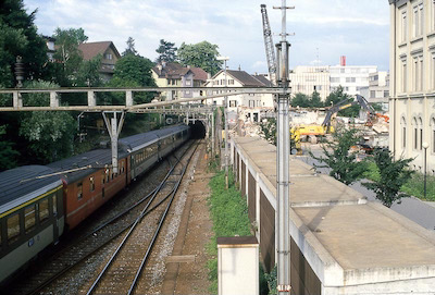 SBB Aarau, gegen Tunnel, Intercity, 1987