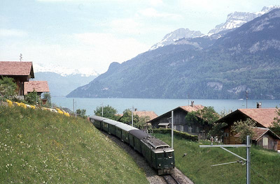 SBB Brünigbahn, Oberried, Brienzersee, 1967
