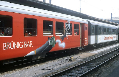 SBB Interlaken E., Jasswagen, Bar, 1991