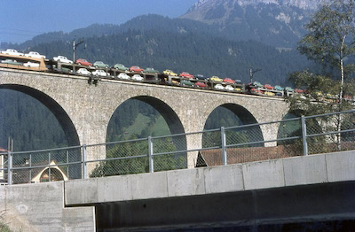BLS Kanderviadukt, Autotransport, 1971
