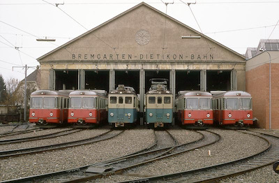 BDB Depot Bremgarten, Parade neu + Umbau, 1970 (Photo: Karl Meyer)