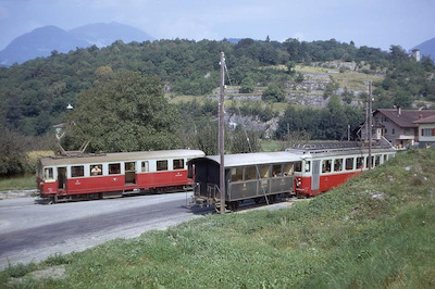 AOMC St-Triphon Gare, Kreuzung, 1967 (Photo: Karl Meyer)