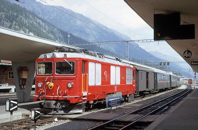 RhB Gem 4/4, Samedan, 1979 (Photo: Karl Meyer)