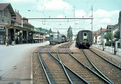 SBB Beinwil am See, Extrazüge, Re 4/4 II, Be 6/8 III, 1969
