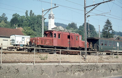 SBB Beinwil am See, De 6/6, Knie, 1975