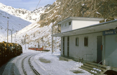 RhB Bernina Suot, Holztransport, 1987