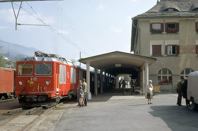RhB, Scuol-Tarasp, Gem 4/4, Aufnahme 1970 (Photo: Karl Meyer)