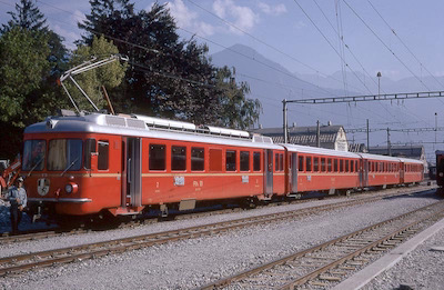 RhB Vororts-Pendelzug, Landquart, 1971 (Photo: Karl Meyer)
